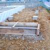 工事37日目:デッキ階段部基礎打設