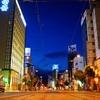 夜明け 松山市内の風景