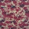 着物生地(234)型染 流水に楓・桜模様上代紬