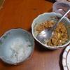 幸運な病のレシピ( 691 ) 夜:ネギ入れて、ひきわり納豆を叩いて作る(パテから作ったひきわり納豆)