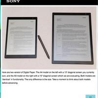 (海外のウワサ)SONYが電子ペーパー「DPT-S1」の後継機を開発中!?