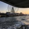 大阪で日常利用されている無料の渡し舟。USJと海遊館をつなぐ天保山渡舟で夕日を。
