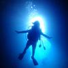 ♪快晴の青の洞窟&シルエットが決まってる〜〜♪〜沖縄ダイビング 青の洞窟 恩納村ファンダイビング〜
