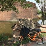チェンマイではゆっくりするつもりでいたが、まずはレンタサイクルで寺院巡り!!