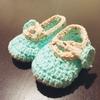 【妊活ー験担ぎ】かぎ編みベビーシューズ*0〜3ヶ月