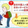 訪日外国人の消費は、日本のサービスビジネスにとって、どれ程重要か?;その伸びと国内の対個人サービスへの影響度合いを確認