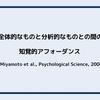 文化と物理的環境:全体的なものと分析的なものとの間の知覚的アフォーダンス (Miyamoto et al.,Psychological Science, 2006)