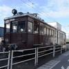 ことでんのレトロ電車 仏生山駅