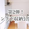 【公開】シンク下収納公開、第2段