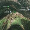 Google Earthで日本百名山 / 空木岳 / 木曽駒ヶ岳 / 御嶽山 / 乗鞍岳 / 焼岳
