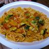 ズッキーニのパスタ⑤大皿ごちそうパスタ