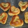 簡単にできるハートのパンを作ってみた。