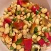 簡単「蒸し大豆とパプリカのサラダ」レシピ。