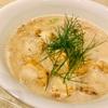 アイスバインのスープでオートミール粥