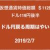 【BNB 今買うとリーズナブル】2019/2/7 仮想通貨時価総額 $112B ドル110円がみえた