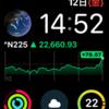 Apple Watchの文字盤は平日と休日で変えてます。