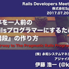 Rails Developers Meetup #3 で講演した