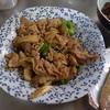 幸運な病のレシピ( 1709 )朝:豚バラテリテリ、焼きレバ甘酢醤油、鱒、塩サバ、味噌汁、マユのご飯