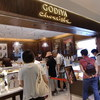横浜の「GODIVA chocoiste」でGODIVA SOFT CREAM、「モンシェール」でハッピーポーチ。