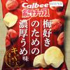 カルビー ポテトチップス 梅好きのための濃厚うめ味