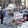 タクシー絡む事故 2人意識不明、4人けが 東京・青山