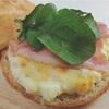 フォカッチャで卵のホットサンド