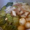 幸運な病のレシピ( 680 ) 朝:パテから作ったロールキャベツ入りおでん、鮭の白子煮付け、モツ煮
