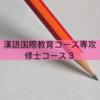 【孔子学院奨学金】漢語国際教育専攻(修士)を履修される方へアドバイス3