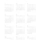 年間カレンダー 2021年版