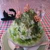 【奈良かき氷】 カフェ バルドー さん  (冷たいかき氷)