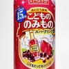 サンガリア「こどもののみもの スパークリング赤」の味わいと泡立ちを詳しくレビュー、子供が考える大人の飲みものについても考察