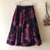 【30代ファッション】ネイビーのミモレ丈スカートのコーデ ①