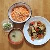 鰹と夏野菜のさっぱり炒め。ニンジンと明太子の炒め物。