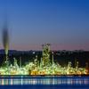 室蘭で白鳥大橋の夕日と工場夜景を撮影
