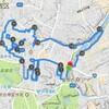 GPSでランアート猫のジョギングコース 四ッ谷塩湯利用