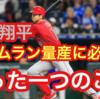 【プロ野球選手解説】大谷翔平のバッティングフォームに致命的欠点?コレが治ればホームラン王。