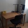 無印良品の机とデスクライト(TaoTronics LED)を買った