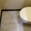 トイレの床を専用シートでリメイク