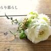 手作りのお花のコサージュ