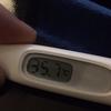 初めて低体温になりました。