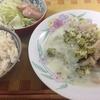 ブロッコリーと鶏肉の豆乳シチュー、レタスのレモンサラダ