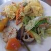 幸運な病のレシピ( 931 )朝:カボチャ煮付け、エビフライオムレツ(仕立て直し)、レストランポイポイ