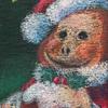 チョークアート「もんきちのクリスマス」