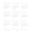 年間カレンダー 2019年版