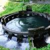 美しく均等な円形の分水システム「音無井路十二号分水」