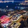 一眼レフで横浜ランドマークタワー69階展望フロア スカイガーデンからの夜景を撮影