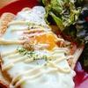 ツナマヨ+目玉焼き+チーズ【トーストレシピ】