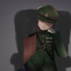【イラスト】軍服少女
