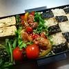 【男子中学生弁当】豚小間のカラフル野菜甘酢ソース
