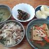 餡掛け揚げ出し豆腐と味噌汁